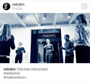 """Radionica """"Telo kao instrument"""" u galeriji Pro3or, februar 2016. godine"""