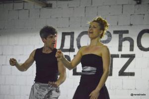 """Da i Re, telo kao instrument"", Dorćol Platz, april 2018. Fotografija: Nerad Rade"