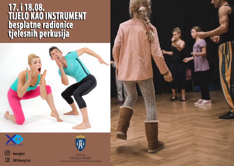 Herceg Fest radionice Detlići Alice in WonderBand Telo kao instrument